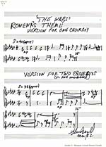 Manuscrit de ROWENA'S THEME pour le film THE WARS