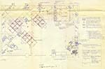 Blue prints for the GLENN GOULD 1988 exhibition