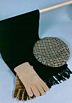 Hat, scarf and gloves that belonged to Glenn Gould