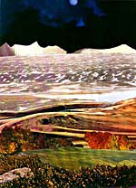 Collage of northern landscape by Joan McCrimmon Hebb