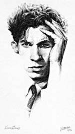 Sketch, GLENN GOULD - PORTRAIT WITH TIE, by Veronica Xavier
