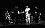 Photograph of Glenn Gould and other musicians rehearsing at the Stratford Festival, 1961(?)