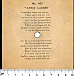 Sticker with lyrics, pasted on the back of a seven-inch black disc, circa 1901