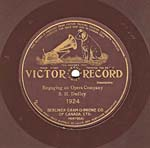 Ten-inch brown disc with the VICTOR GRAND PRIZE label, circa 1905