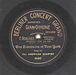 Ten-inch disc with the CONCERT GRAND label and gothic lettering, circa 1901