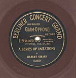 Ten-inch brown disc with the CONCERT GRAND label, circa 1903