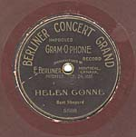 Ten-inch brown disc with the CONCERT GRAND label and lettering in an Art-Nouveau-style font, circa 1904