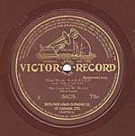 Ten-inch brown disc with the GRAND PRIZE label and three lines of licensing information, circa 1908