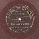 Ten-inch brown disc with the CONCERT GRAND label and lettering in a Western/Spanish font, circa 1903
