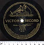 Front of a ten-inch disc with the VICTOR GRAND PRIZE label, circa 1912