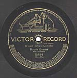 Ten-inch black disc with the VICTOR RECORD GRAND PRIZE label and four lines of licensing information, circa 1910