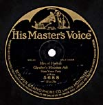 Ten-inch black disc with the HIS MASTER'S VOICE batwing label, circa 1914