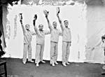 Photograph of The Dumbells Quartette: Frank Brayford, Bert Langley, Al Plunkett, Bill Tennent