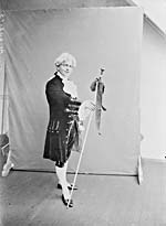 Photograph of Bert Langley in costume