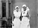 Photograph of two Canadian nurses during the First World War