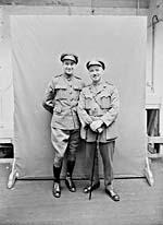 Photograph of Corporal Al Plunkett and Captain Mert Plunkett