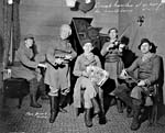 The influential folk musician Conrad Gauthier and his Mantle Lamp troupe, 1932