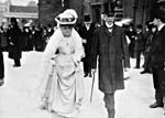 Photograph of Lady Zoë Laurier and Sir Wilfrid Laurier, Éva Gauthier's patrons