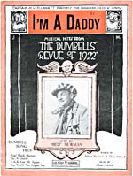Cover of sheet music of I'M A DADDY, from a Dumbells' revue, 1922