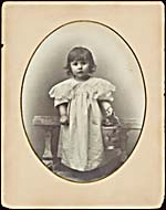 Photograph of Sarah Fischer as a child, circa 1896