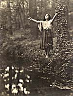 Photograph of Sarah Fischer as Mignon, taken in Bois de Boulogne park, Paris, 1925