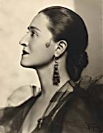Photograph of Sarah Fischer as Carmen, 1937