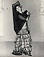Photograph of Sarah Fischer in costume for her role as Carmen, July 6, 1934