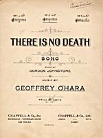 Cover of sheet music for the song, THERE IS NO DEATH