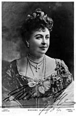 Photograph of Dame Emma Albani, the first Canadian singer to achieve an international career