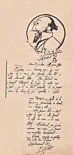 Lettre d'Erik Satie à Éva Gauthier pour remettre leur rencontre