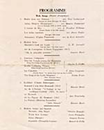List of songs from programme for one of Gauthier's concerts of modern music in London, England, June 1925