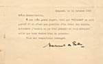 Letter from composer Manuel de Falla, dated October 14, 1929, apologizing for not being able to send Gauthier a copy of CÓRDOBA until it is published