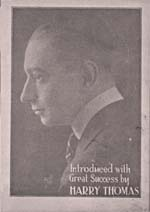 Photograph of Harry Thomas, Eckstein's protégé and co-writer, circa 1920