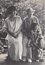 Photograph of Kathleen and Minnie Parlow and a young Japanese girl