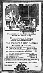 Advertisement for some popular recordings, TORONTO DAILY STAR, Sept. 12, 1919, page 4