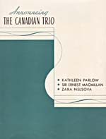 Cover of a promotional booklet promoting The Canadian Trio