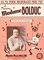Front cover of sheet music for the song, ÇA VA VENIR DÉCOURAGEZ-VOUS PAS