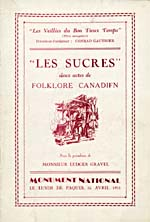 Cover of concert programme for LES SUCRES, April 16, 1931