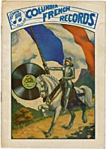 Cover of the Columbia French Records catalogue for 1917