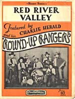 Cover of the sheet music for the song, RED RIVER VALLEY