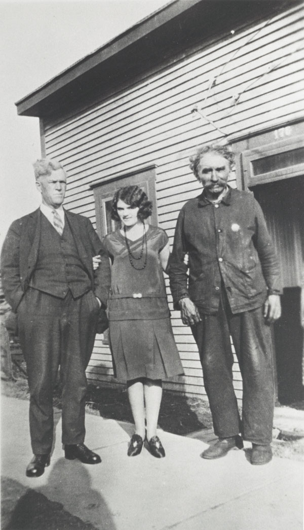 Photograph of Allard with his daughter and a friend, 1930