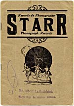 Cover of the Starr record catalogue
