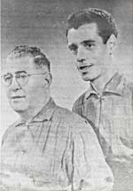Photograph of Isidore and his son Fernando, who was a member of both the Famille Soucy and Trio Soucy