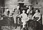 Photograph of Conrad Gauthier and the International Canadians when they appeared on CKAC radio, Montréal, in December, 1929