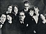 Family portrait of Gauthier, his wife and their children, 1927