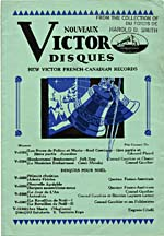 Cover of Victor Records catalogue, December, 1930, advertising Conrad Gauthier's recordingst