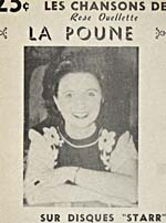 Cover for a songbook of tunes sung by Rose Ouellette, making reference to her recordings for the Starr record label