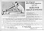 An advertisement for E. Berliner, Montreal