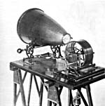 Photograph of Léon Scott de Martinville's phonautograph, 1857