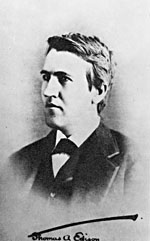 Photograph of Thomas Edison, taken around the time he invented the phonograph